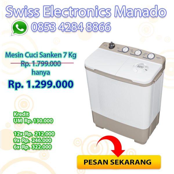 Mesin Cuci Sanken 7KG TW-8600CF