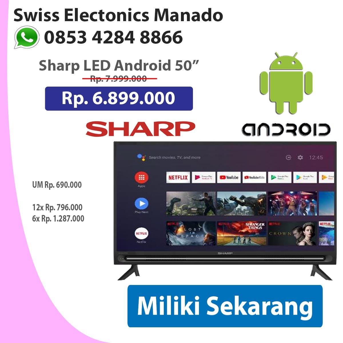 LED Sharp 50 Android 2T-C50BG1I